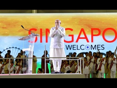 LIVE: Narendra Modi Full Speech in Singapore Expo !!