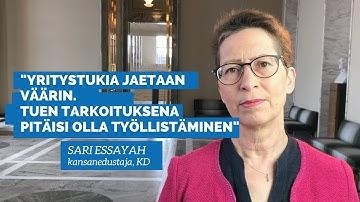 Sari Essayah: Yritystukia jaetaan väärin