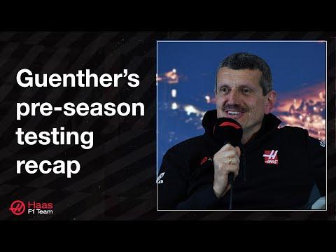 Guenther's pre-season testing recap