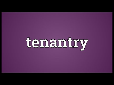 Header of tenantry