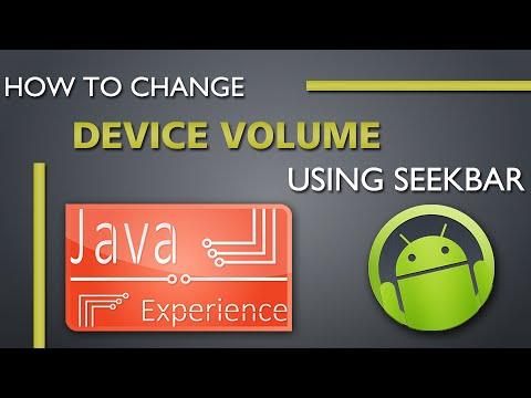 How to change device volume using seekbar