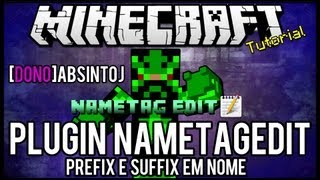 [Tutorial]NametagEdit - Prefix e Suffix em Nome Minecraft