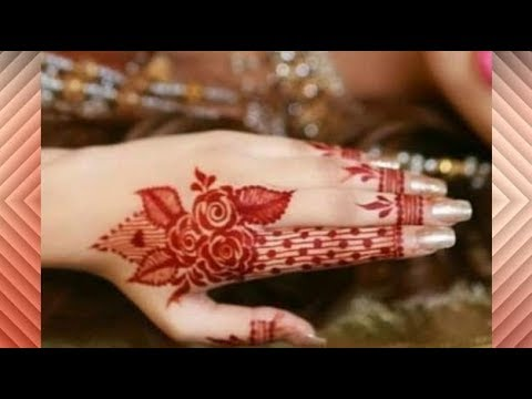 Latest New Stylish Elegant Gulf Rose Mehndi Design Simple Easy