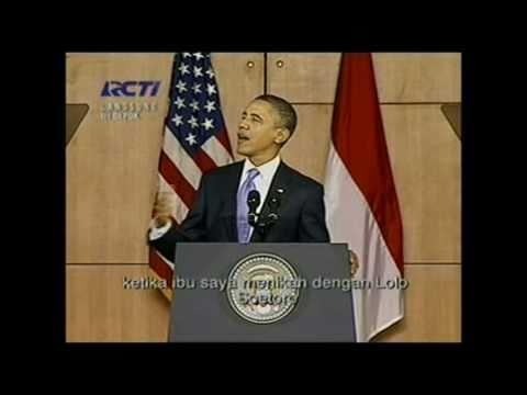 VIDEO OBAMA PIDATO DI UI (UNIVERSITAS INDONESIA DEPOK) SAAT BERKUNJUNG KE INDONESIA