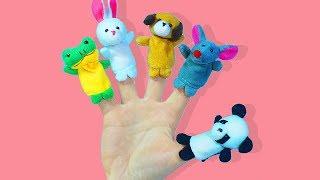 Весёлая Песенка про Пальчики на русском Учим названия животных Видео для самых маленьких