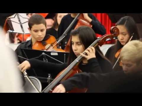 Raneem performing in the Hendrick Middle School Fall Concert 1