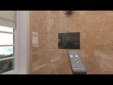 Bathroom Television Installation