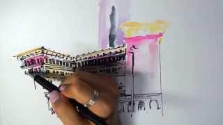 Yenavant Drawing #4, The Peninsula HongKong