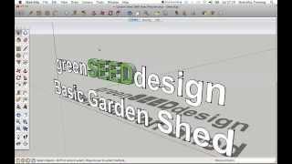 Gsd Sketchup Garden Shed Shell Axes