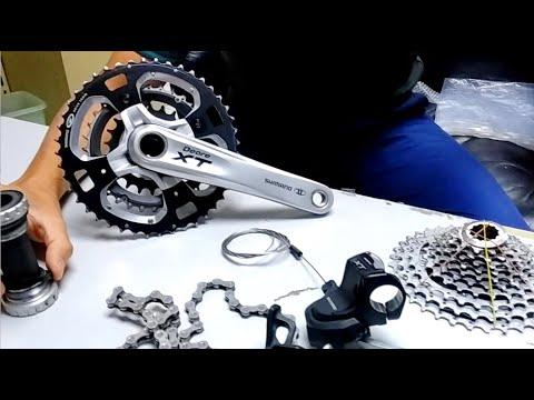 จักรยาน ชุดขับ Group Set จักรยานเสือภูเขา Shimano XT 10 Speed 6,xxx ตลาดนัดจักรยาน ToT