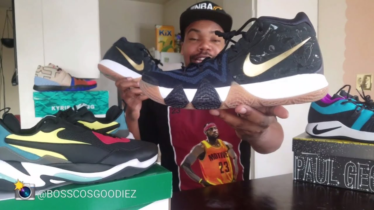 """sports shoes c5b97 023bd NIKE KYRIE 4 """"PITCH BLUE"""" SNEAKER REVIEW (KYRIE IRVING SIGNATURE SHOE)"""