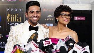 Ayushmann Khurrana With Wife Tahira Kashyap At IIFA Awards 2019