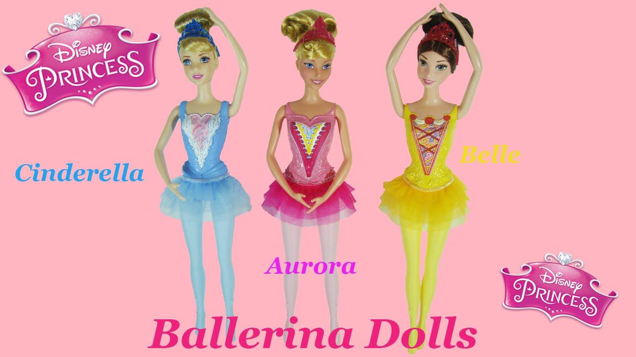 Disney Princess Ballerina Dolls Aurora Cinderella Belle
