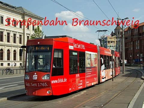 trams in braunschweig germany doovi. Black Bedroom Furniture Sets. Home Design Ideas