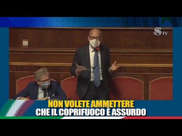 Il Sen. De Bertoldi interviene in discussione sulle misure urgenti connesse all'emergenza COVID-19