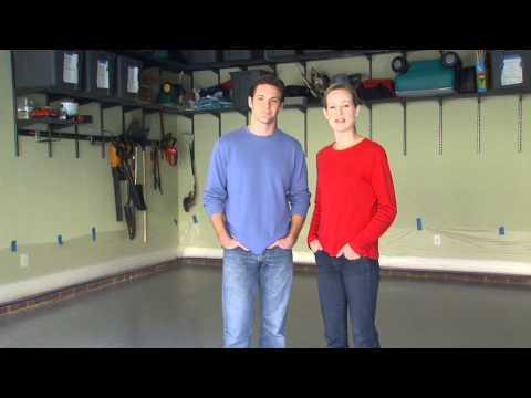 Applying Garage Floor Coating by Valspar