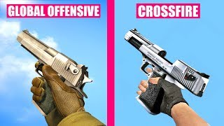 Counter-Strike Global Offensive Gun Sounds vs Crossfire
