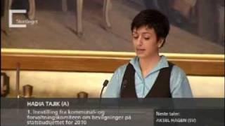 Hadia Tajik: Den norske samfunnskontrakten