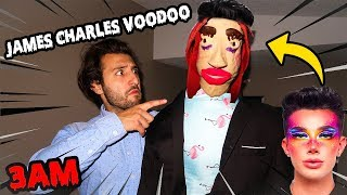 LIFE SIZE JAMES CHARLES GIANT VOODOO DOLL AT 3AM CHALLENGE! | DO NOT USE A REAL LIFE VOODOO DOLL 3AM