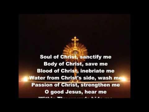 Anima Christi - Prayer
