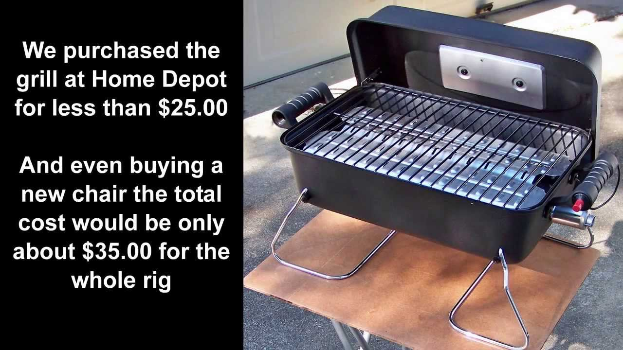 Pop Up Camper Gasgrill : Pop up camper mods gas grill stove and folding stand youtube