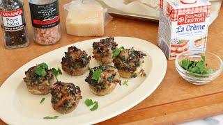 시금치 특집: 시금치를 곁들인 양송이버섯구이 만들기