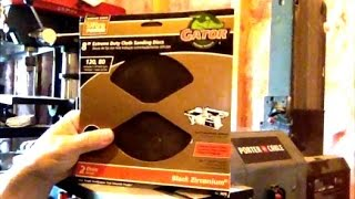 Porter Cable 8 Inch Disc Belt Sander How To Change Sanding Disc Replacement