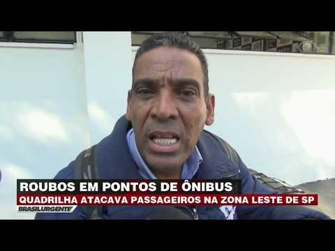 Quadrilha ataca passageiros de ônibus em São Paulo