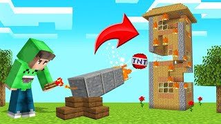 TROLLING My FRIEND With A TNT CANNON! (Minecraft)