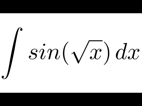 Integral of sin(sqrt(x)) (substitution + by parts)