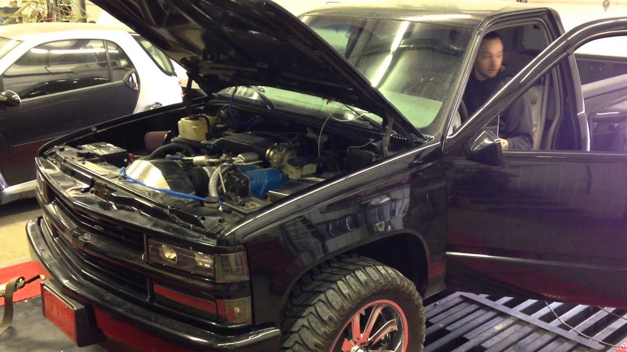97 Chevy 1500 5.7 Whipple. Dyno pulls, SUPERCHARGED - YouTube