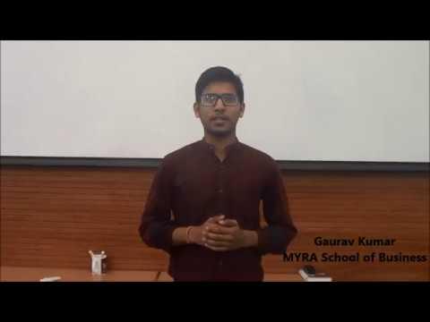 Gaurav Kumar MYRA school of Business