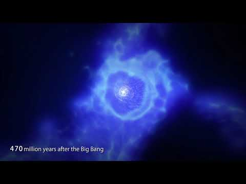 Computer graphics movie of the star formation history in the galaxy MACS1149 JD1