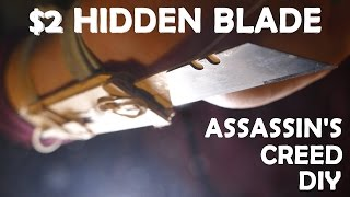$2 DIY Assassin's Creed Wrist Blade! - Fully Automatic Super Easy Build!!!