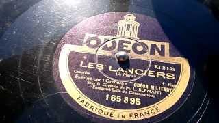 Les Lanciers 1. Teil - Odeon Military - Grammophon 78 Rpm Schellack