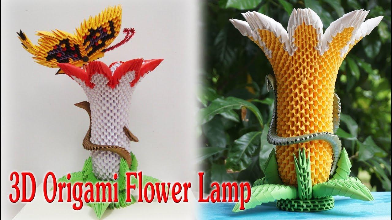3D Origami Flower Lamp | 3d origami brugmansia flor ... - photo#44