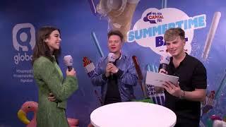 Dua Lipa Chooses Between Kendall & Kylie at Capital FM Summertime Ball 2017
