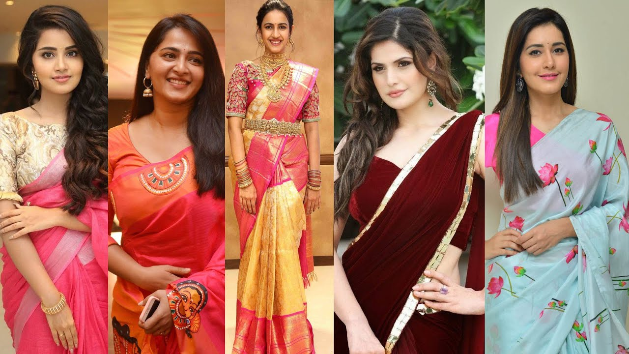 Most Beautiful South Indian Actresses In Sarees Tollywood Actress Youtube