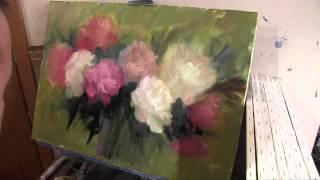 Пишем букет, уроки живописи для начинающих, художник Игорь Сахаров