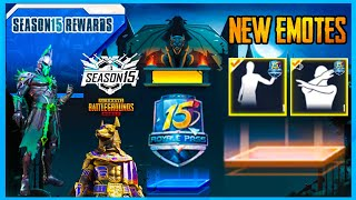 SEASON 15 ROYAL PASS EMOTES AND NEW COLLABORATION OF PUBG MOBILE ( SEASON 15 UPDATE )