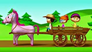 Детская песенка про лошадку. Мультфильм для малышей.