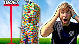 Spending 24 Hours In 5 Story LEGO Tower!