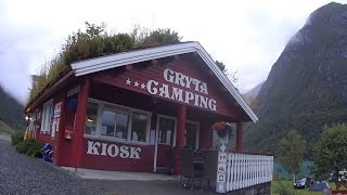 Gryta camping at Olden, Norway (HD)