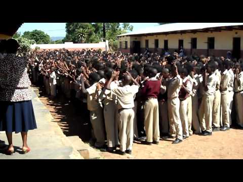 School Assembly in Limpopo Province South Africa