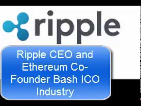 Ripple CEO and Ethereum Co Founder Bash ICO Industry