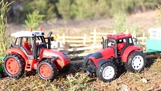 Мультик про машинки - 175 серия: Трактор, ферма,  пожар. Мультик для детей.