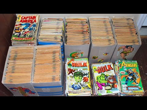 Epic 1000 Comic Book Collection Garage Sale Haul Silver Age Bronze Age Key Issue Video