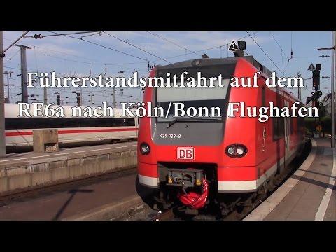 Führerstandsmitfahrt auf dem RE6a von Düsseldorf Hbf nach Köln/Bonn Flughafen