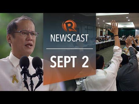 Rappler Newscast: Aquino impeachment junked, COA budget slash, Gilas vs Puerto Rico