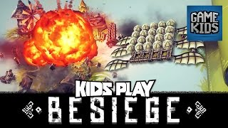 Besiege Gameplay With JD And Burnie - Kids Play